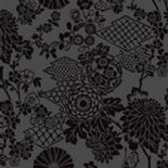 Flamante Flock Wallpaper 99033 Geisha Black By Holden Decor